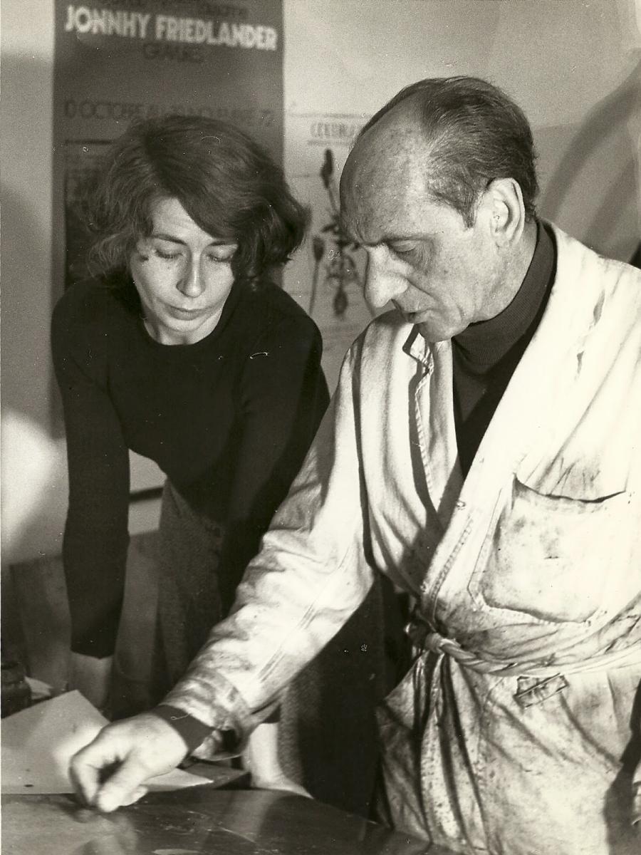 Johnny Friedlaender and Brigitte Coudrain