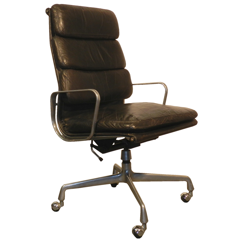 ray and charles eames desk chair with soft pads modernism. Black Bedroom Furniture Sets. Home Design Ideas