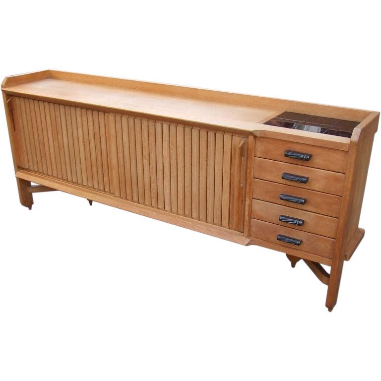 guillerme et chambron 1960 oak sideboard modernism. Black Bedroom Furniture Sets. Home Design Ideas