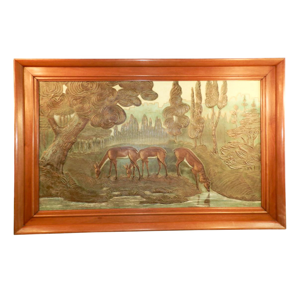 Gueret Very Large Art Deco Painting Modernism