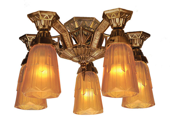 New Reproduction Of The Lincoln Close Ceiling 5 Light Lamp Modernism