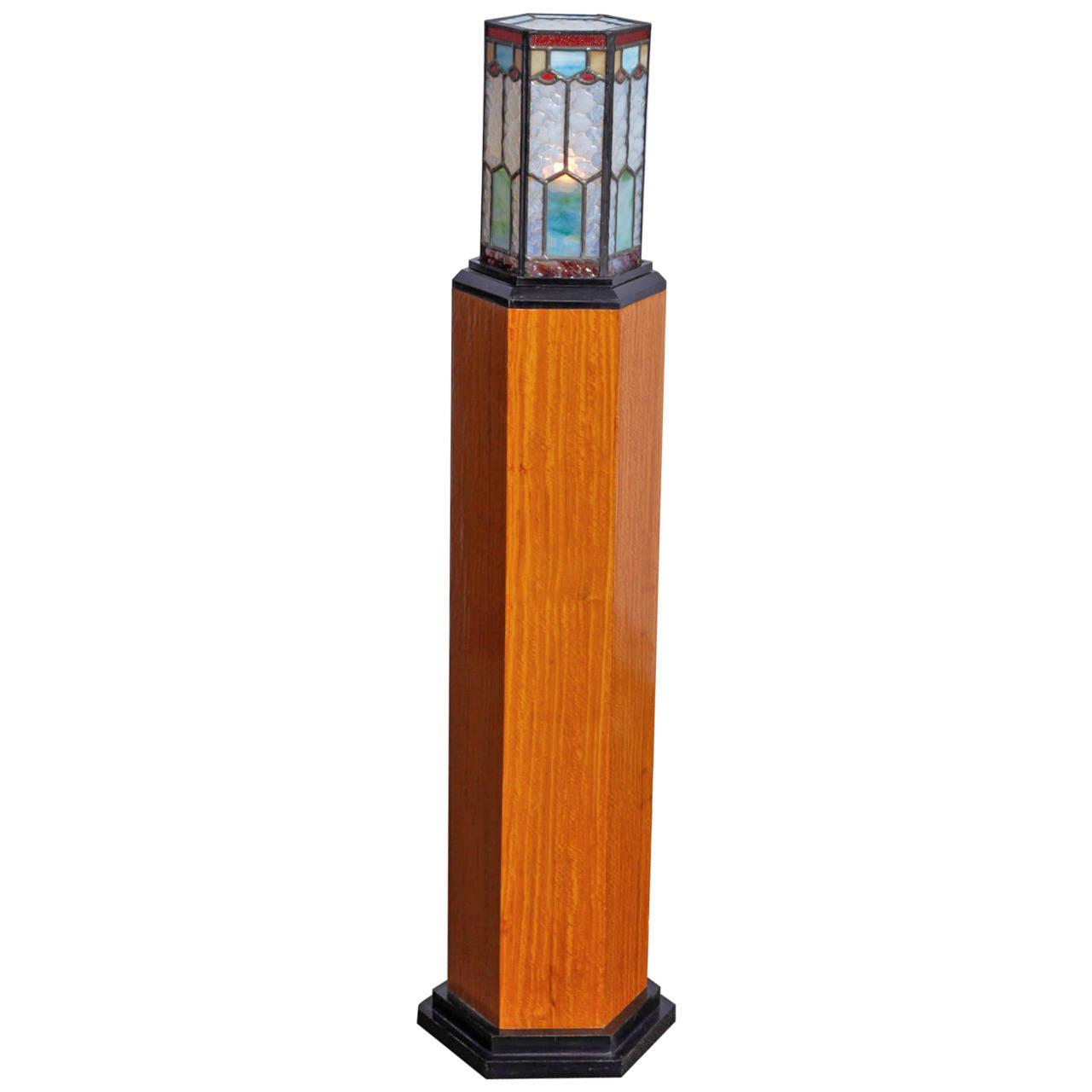 Art Deco Pedestal Lamp Modernism