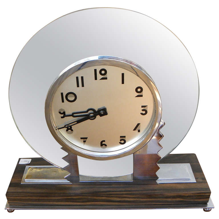 Key Wind Modernist Style Art Deco Clock Modernism