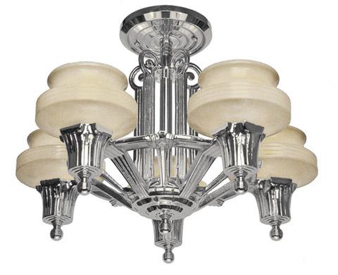Streamline Modern Art Deco Ceiling Light Chandelier