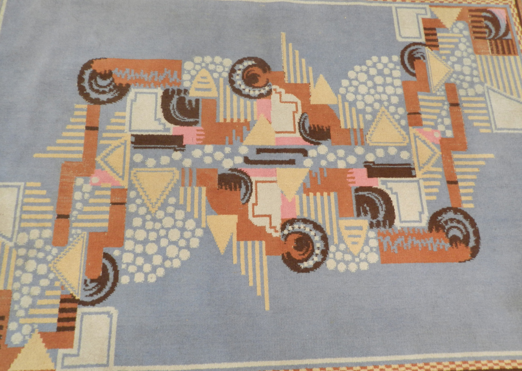 1930 art deco wool carpet or rug modernism for Decoration maison 1930 lille