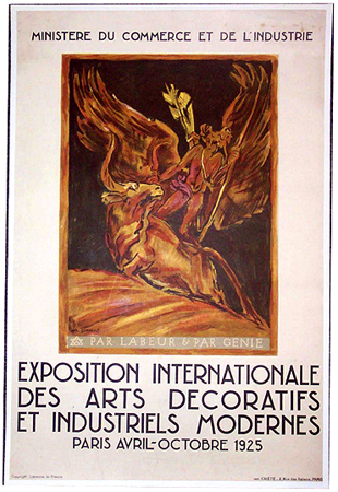 1925 Paris Exposition French Art Deco Poster Modernism