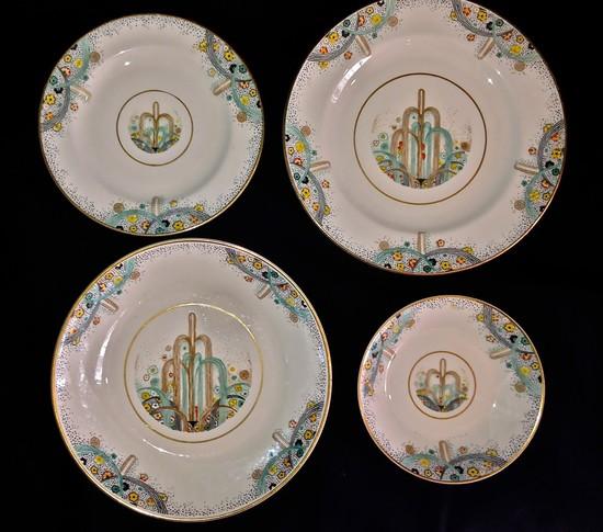1925 Paris Exposition Les Fontaines Art Deco Dinnerware & 1925 Paris Exposition Les Fontaines Art Deco Dinnerware | Modernism