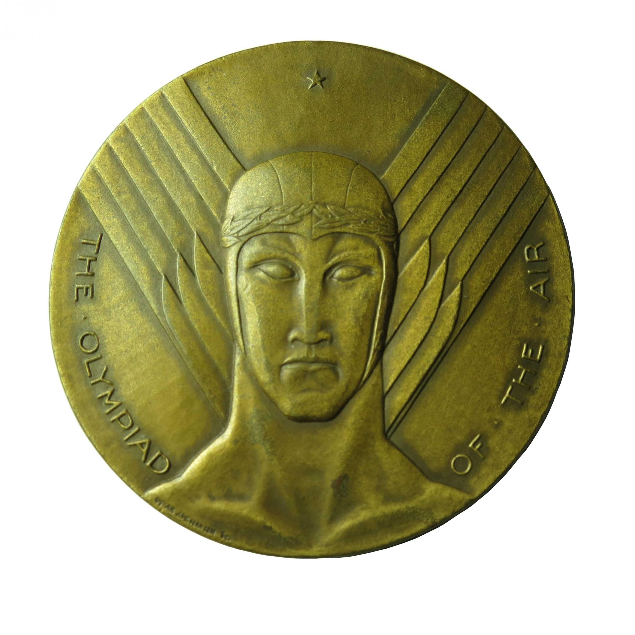 1930 National Air Races Chicago Art Deco Bronze Medal | Modernism