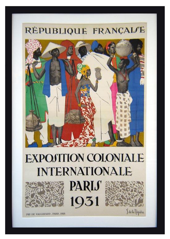 Art Deco 1931 Paris Colonial Exposition Poster By Neziere