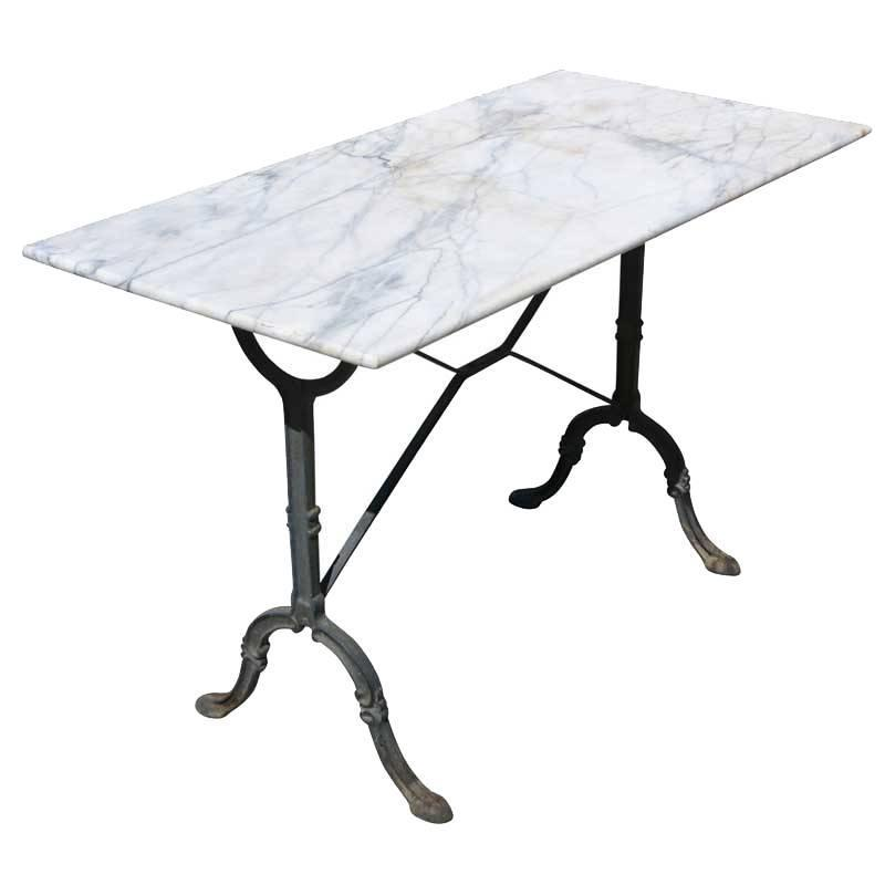 Late 19th Century French Country  Bakers Table Marble Top