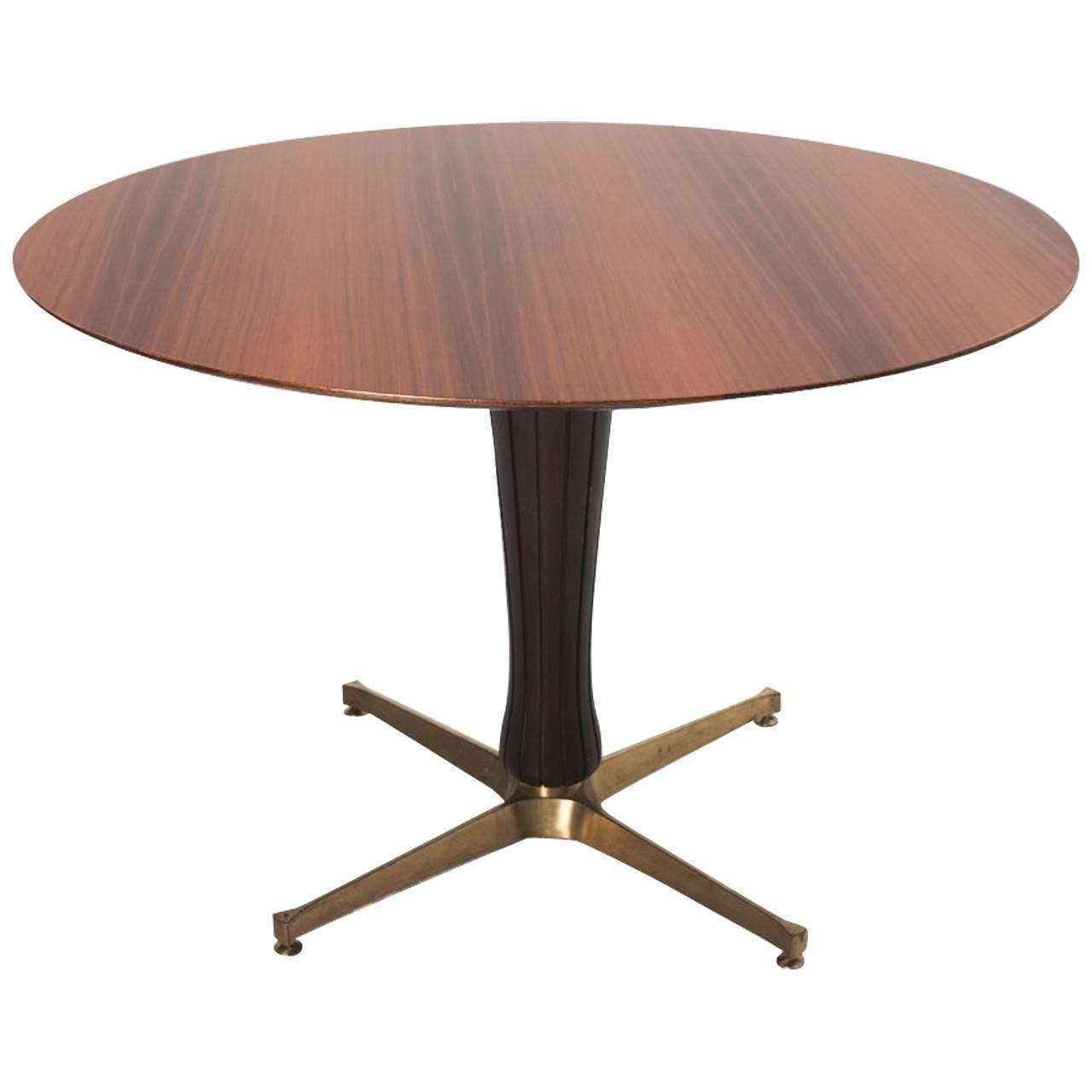 Modernist Fifties Pedestal Dining Table Italian Design