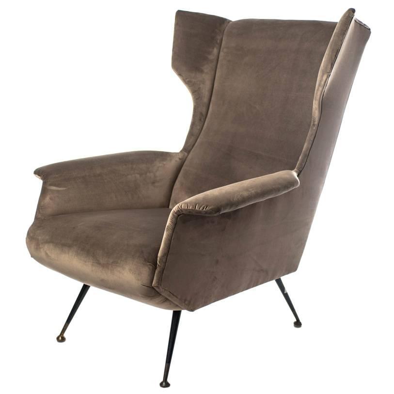 Italian Design Mid Century Modern Armchair Ca 1950s