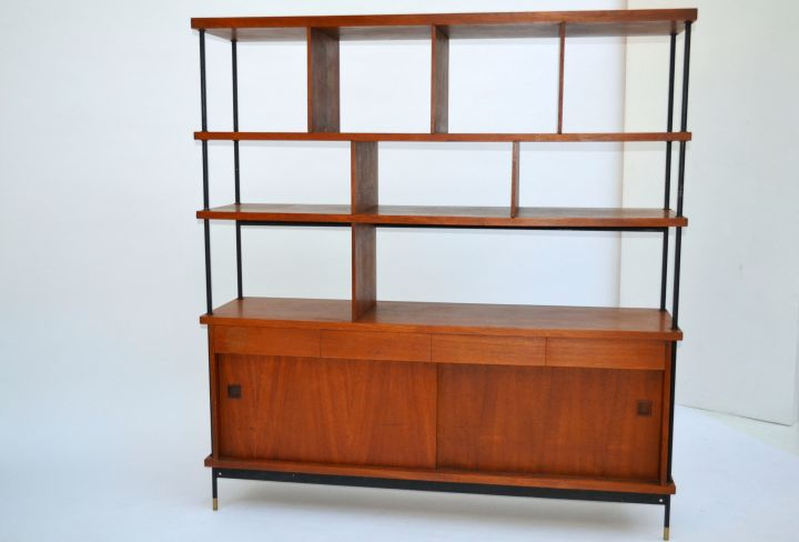 Shelving Unit With Storage Italian Design Mid-century Modern ...
