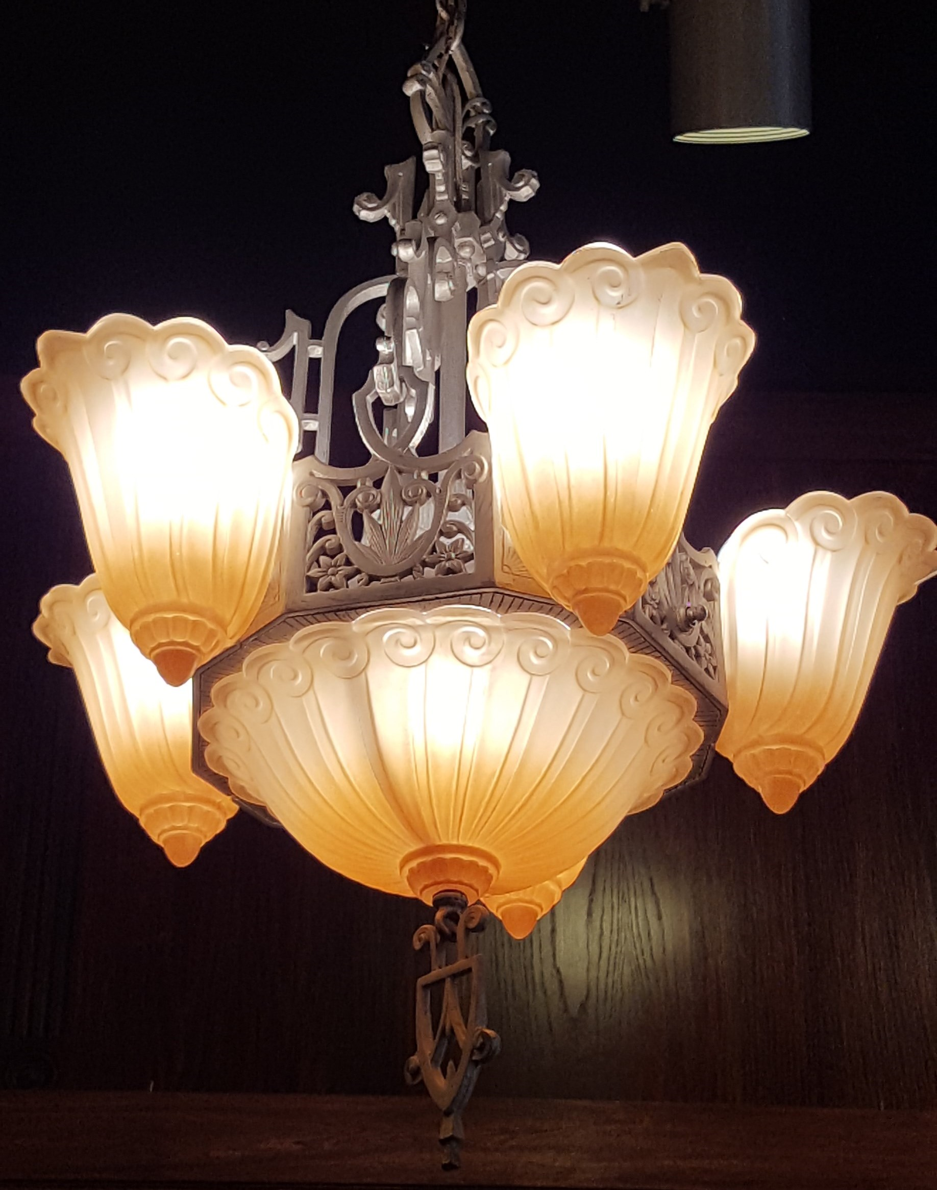 antiques gilboy img original vintage chandelier deco french period beauty antique s lily circa art