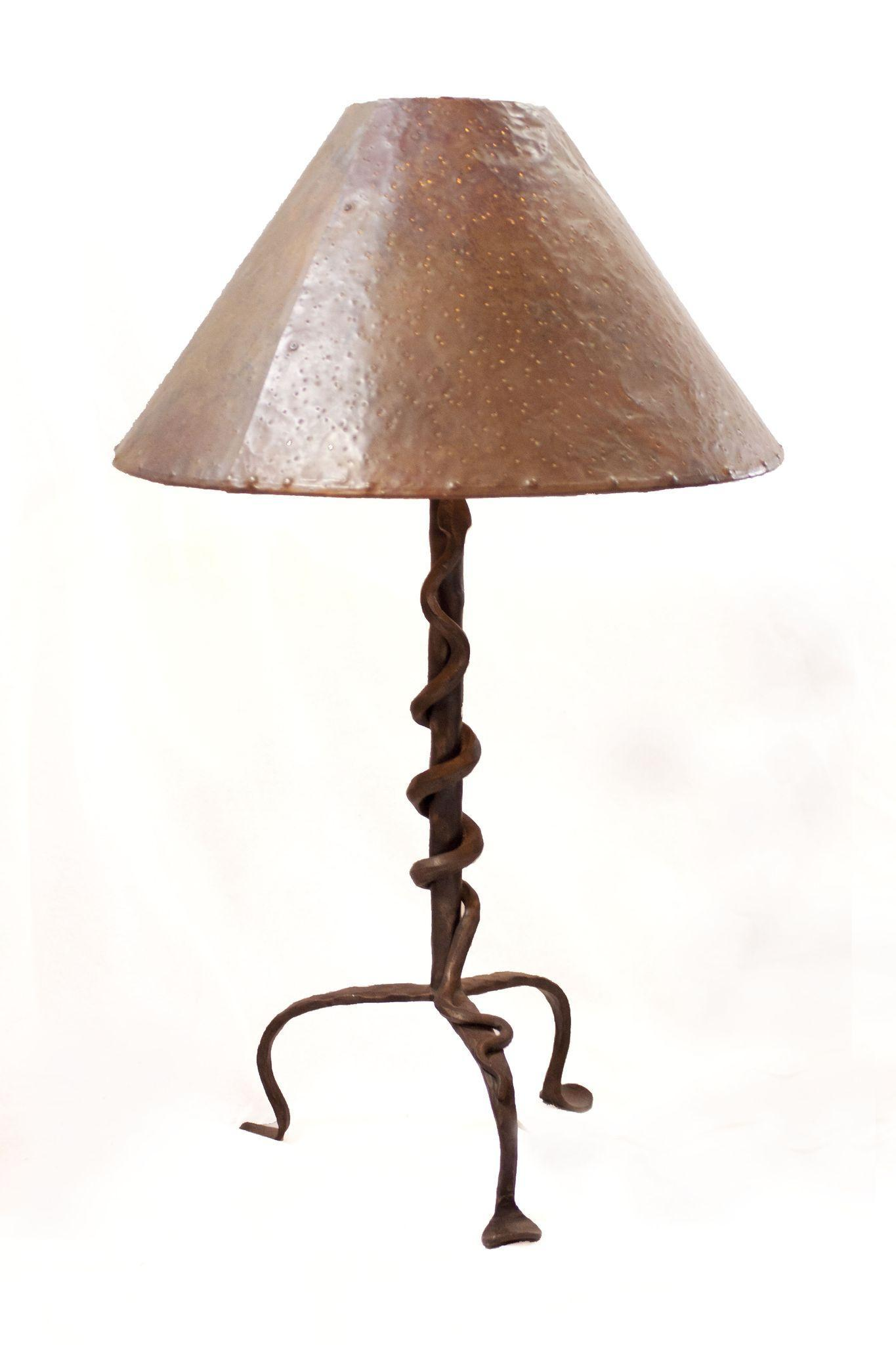 Vintage Wrought Iron Snake Table Lamp Modernism