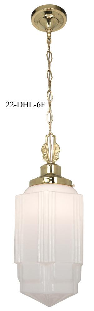 Art Deco School House Pendant Light 6 In. Fitter