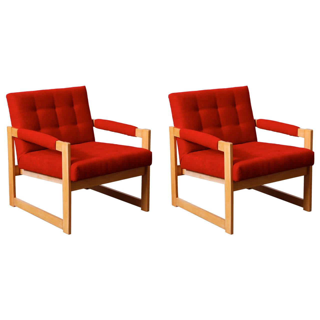 Mid Century Modern Armchairs: Pair Of 1960s Armchairs Mid Century Modern Design