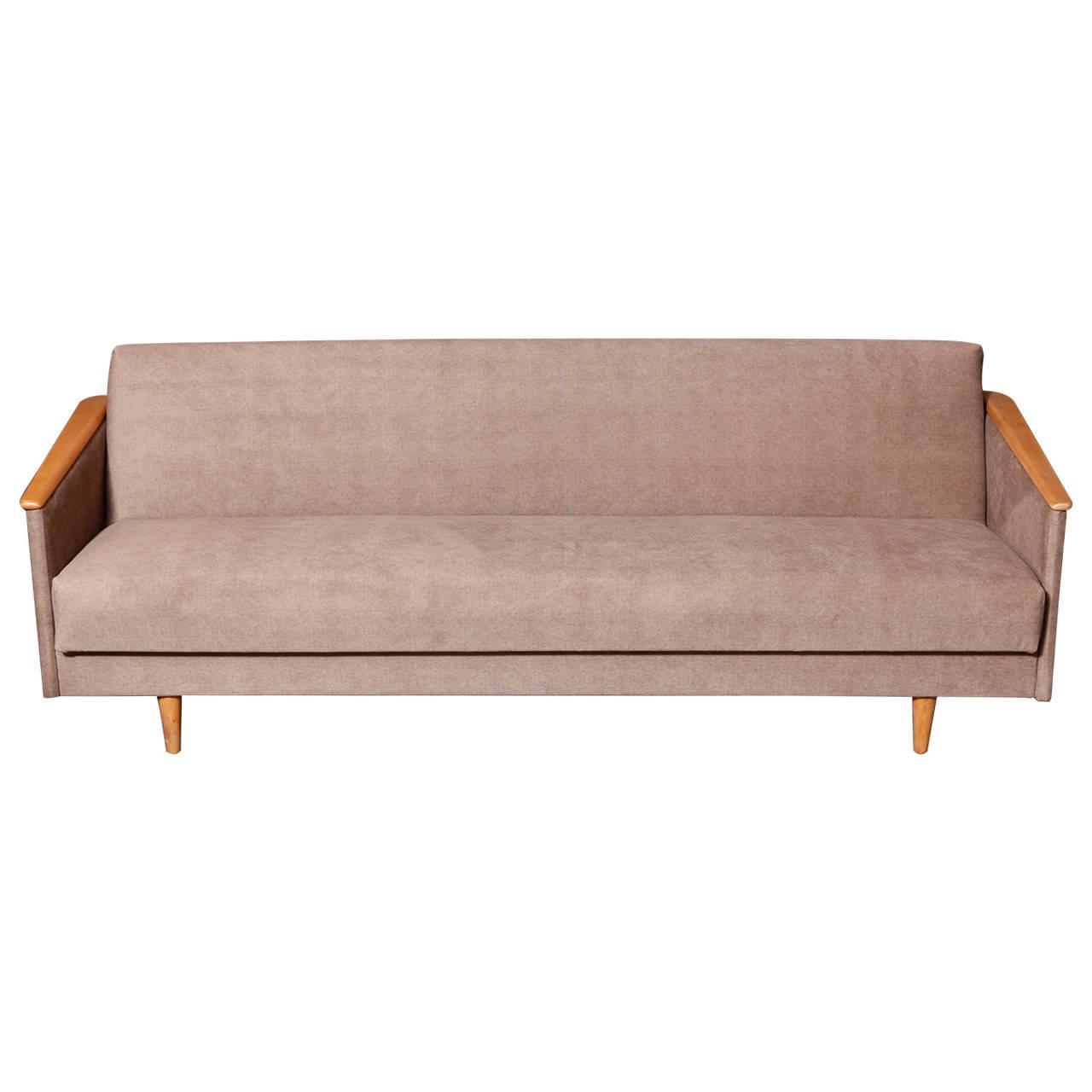 Mid Century Modern 1960's Convertible Sofa Bed