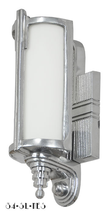 1930s Style Recreated Art Deco Streamline Sconce Modernism