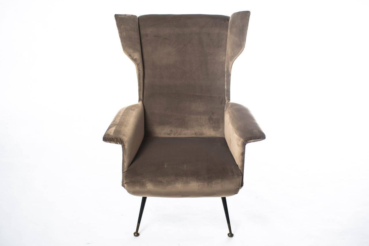 Italian design mid century modern armchair ca 1950s for Mid century modern armchairs