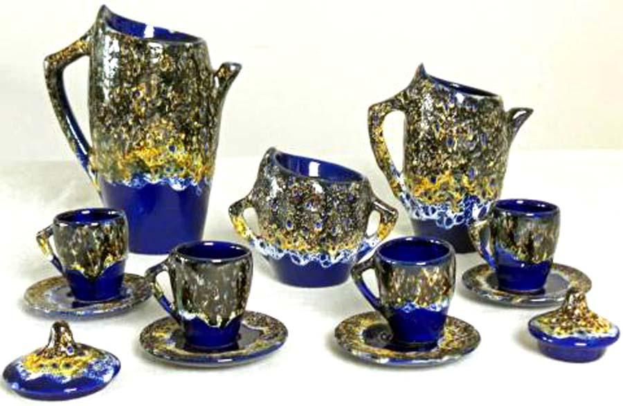 Vallauris Fat Lava Ceramic Coffee Service 1950 S Modernism