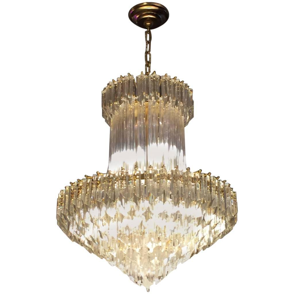 Mid century italian murano glass chandelier by venini modernism mid century italian murano glass chandelier by venini aloadofball Images