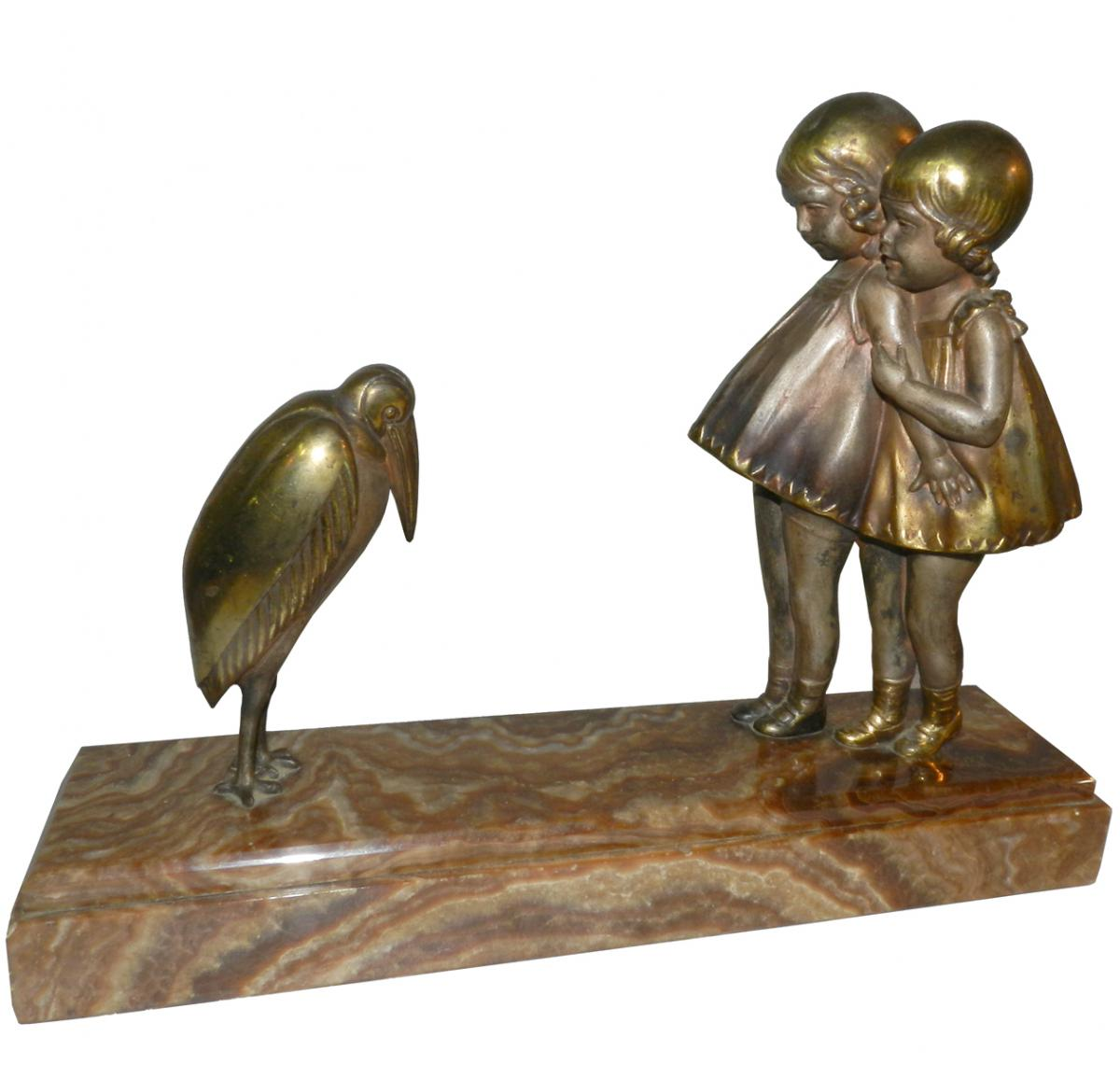 Demetre H Chiparus Art Deco Polychrome Sculpture Modernism