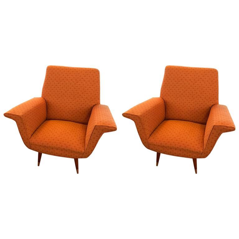 Pair of Italian Mid Century Arm Chairs Modernism : 6367393l from modernism.com size 768 x 768 jpeg 27kB