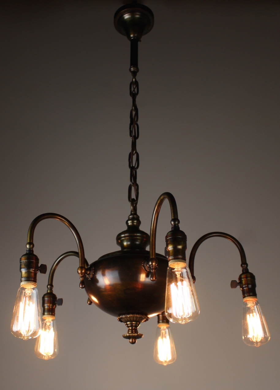 1920s 5 light arts and crafts fixture modernism 1920s 5 light arts and crafts fixture arubaitofo Gallery