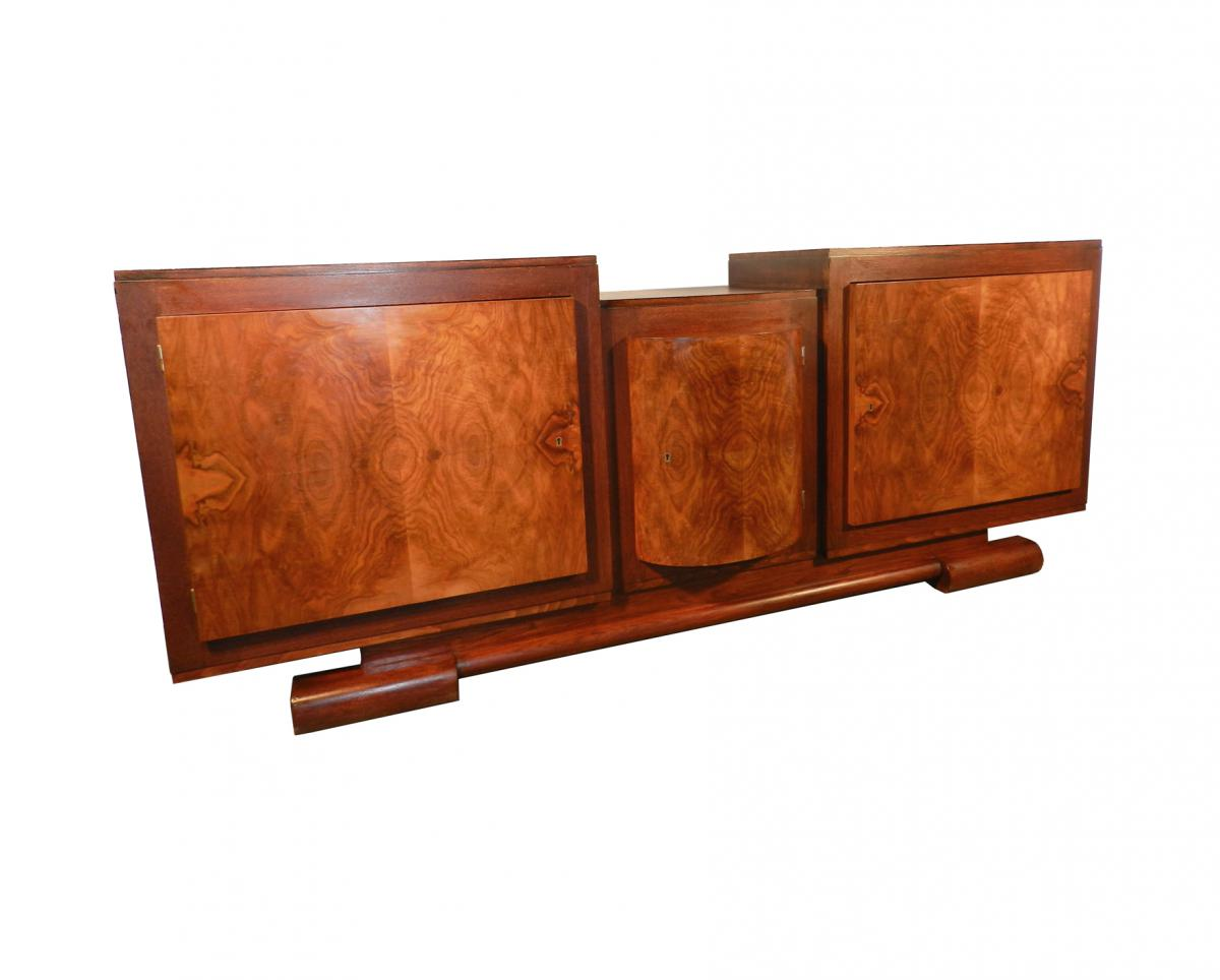 art deco oak and walnut sideboard modernism. Black Bedroom Furniture Sets. Home Design Ideas