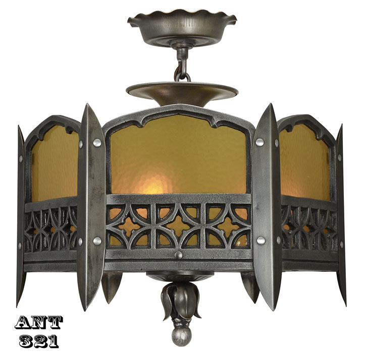 Gothic Or Arts And Crafts Style Ceiling Light Modernism