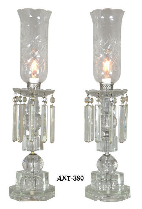 Outstanding pair of period edwardian cut crystal hurricane l modernism outstanding pair of period edwardian cut crystal hurricane l aloadofball Images