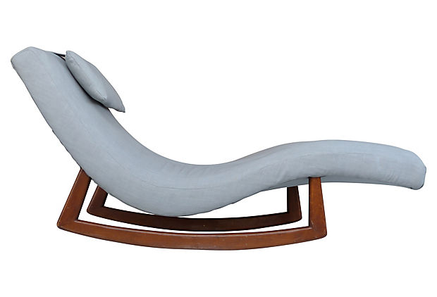 Adrian pearsall double wide rocking chaise modernism for Chaise longue double exterieur