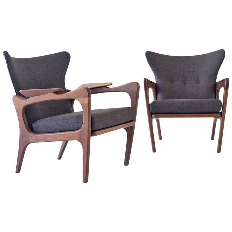 Charmant Adrian Pearsall Low Wing Chairs For Craft Associates Inc.