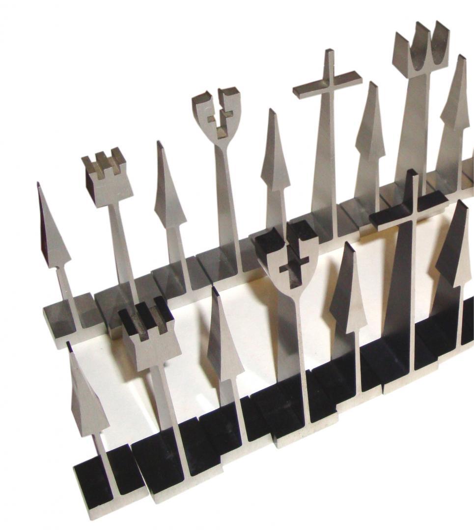 Austin Cox For Alcoa Aluminum Chess Set 1962 Modern Design
