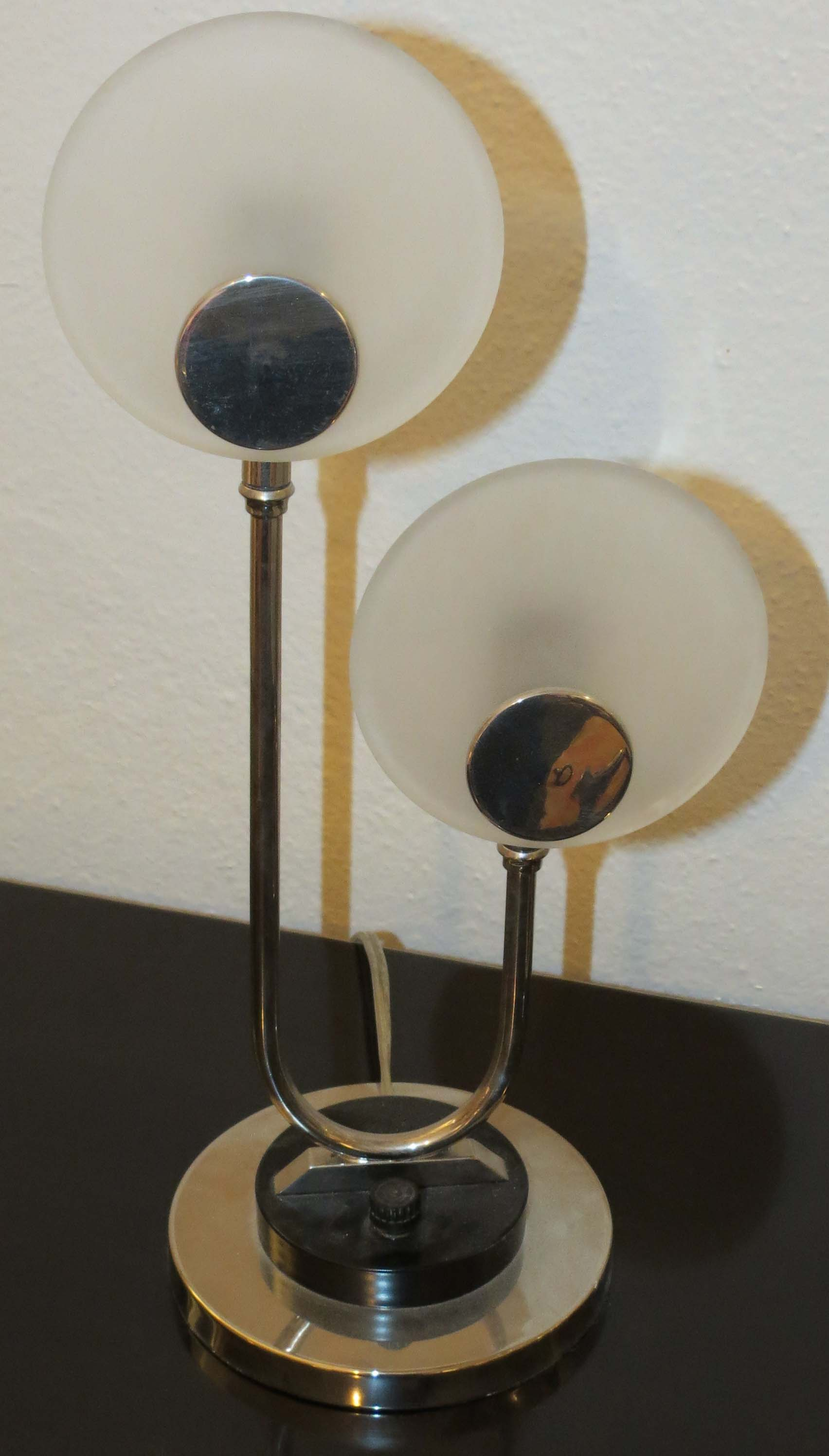 Matching Pair Of American Art Deco Chasecraft Lamps