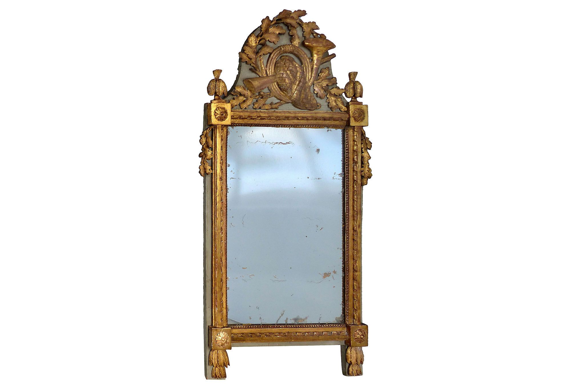 Antique european carved gilt wood mirror modernism for Antique mirror