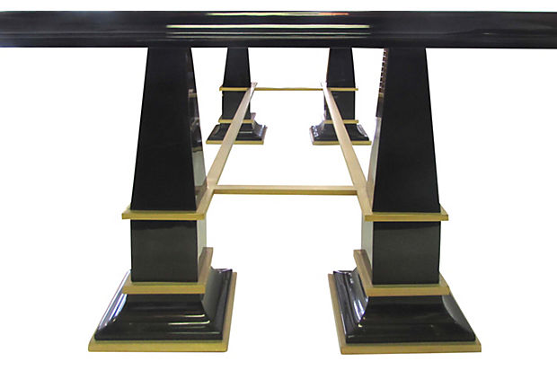Charming Antoinio Pavia Art Deco Revival Dining Table From Italy