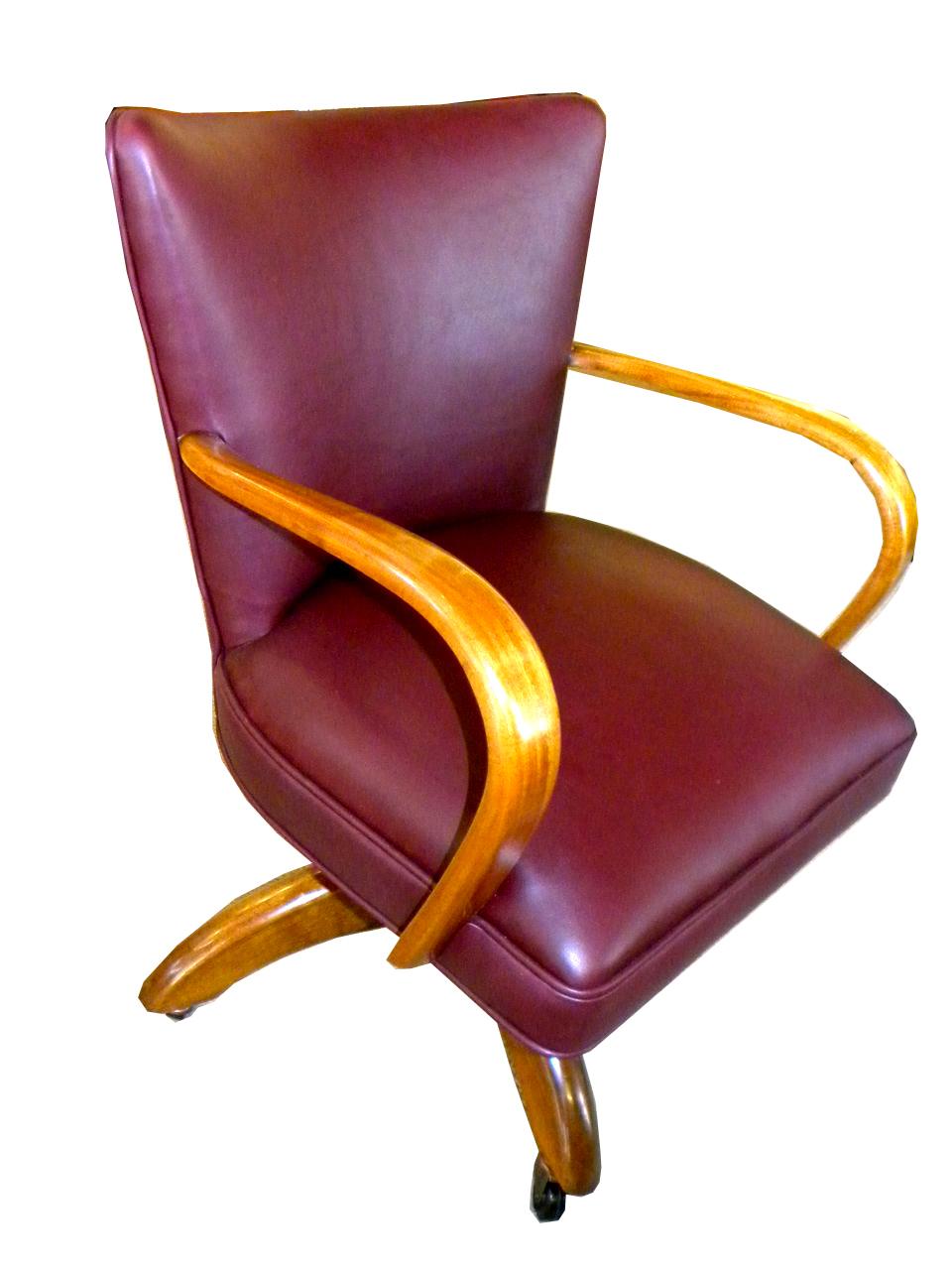Original European Art Deco Executive Desk Chair Modernism