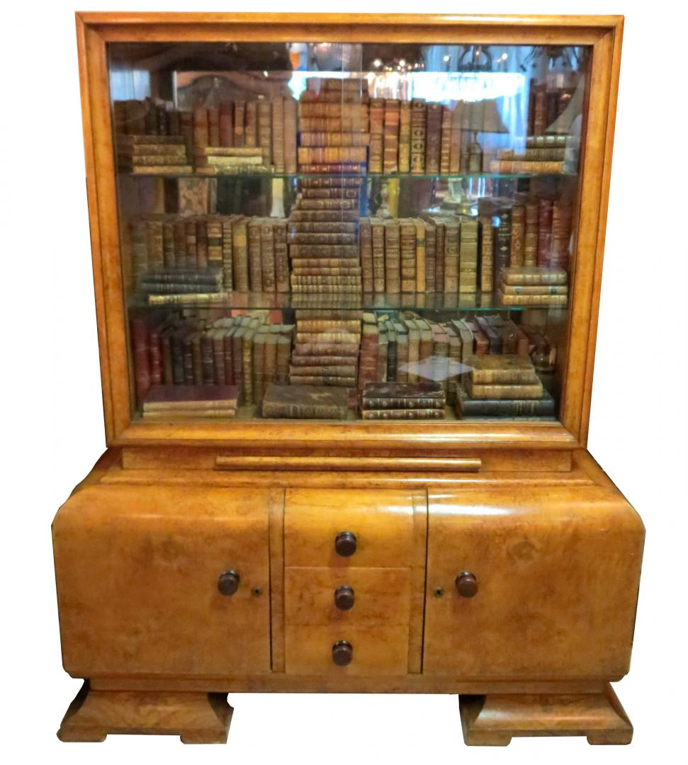 birdseye maple 1930s art deco china cabinet with glass art deco furniture cabinet