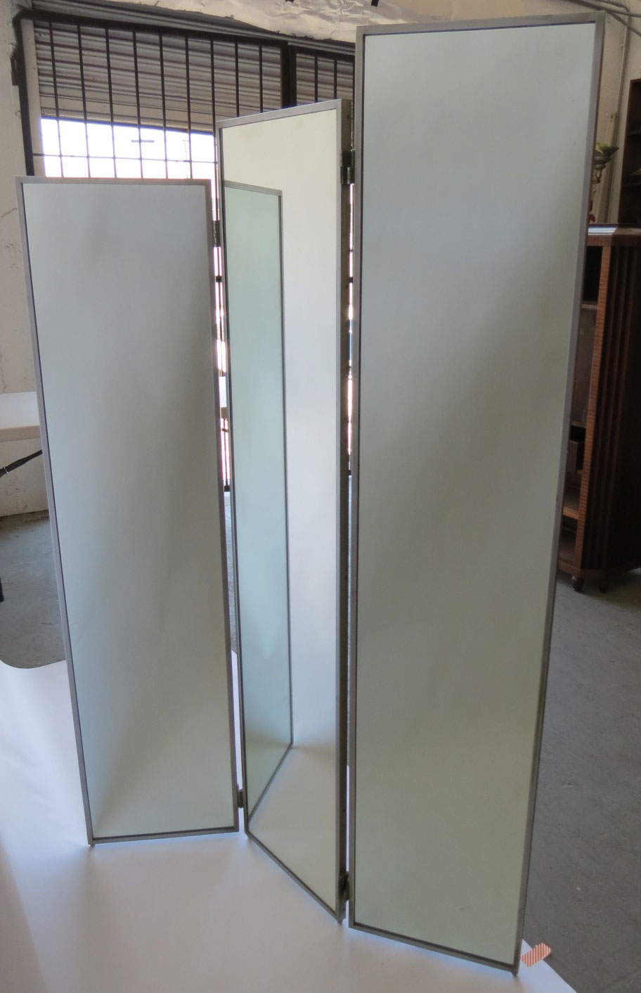 American art deco mirror skyscraper folding screen modernism - Mirror screen ...