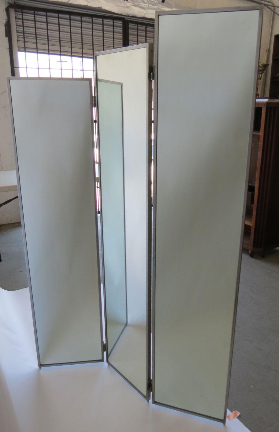 American art deco mirror skyscraper folding screen modernism for Mirror screen