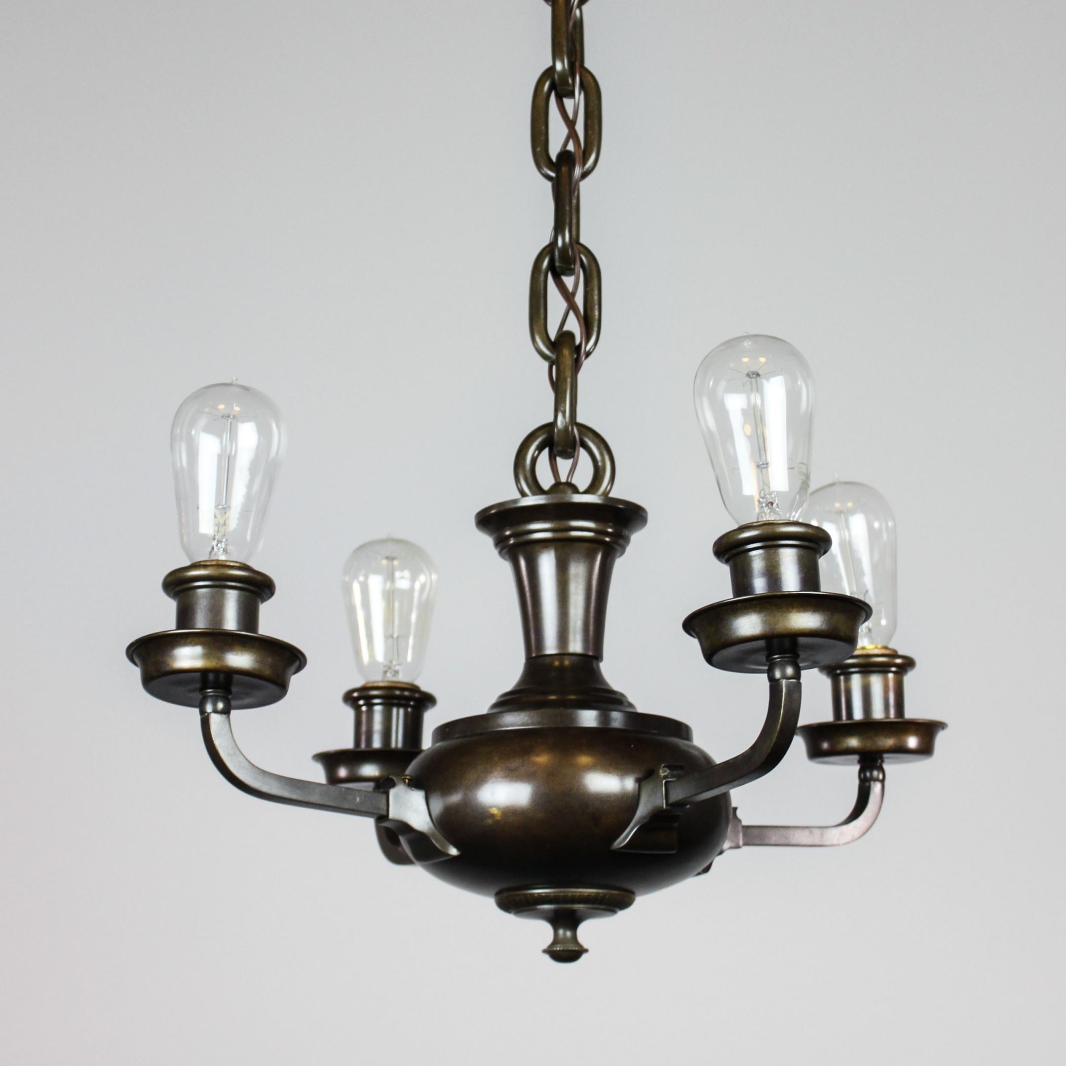 artistic arts crafts bare bulb pan light fixture 4. Black Bedroom Furniture Sets. Home Design Ideas