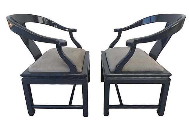 Outstanding Hollywood Regency James Mont Style Asian Modern Chairs Spiritservingveterans Wood Chair Design Ideas Spiritservingveteransorg