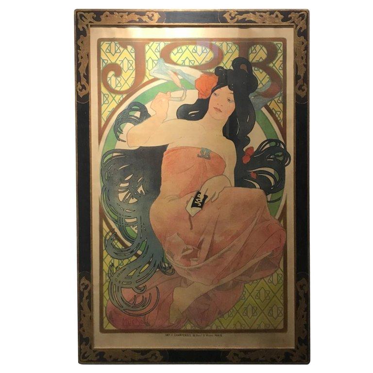 Art Nouveau Alphonse Mucha Original Job Poster 1898