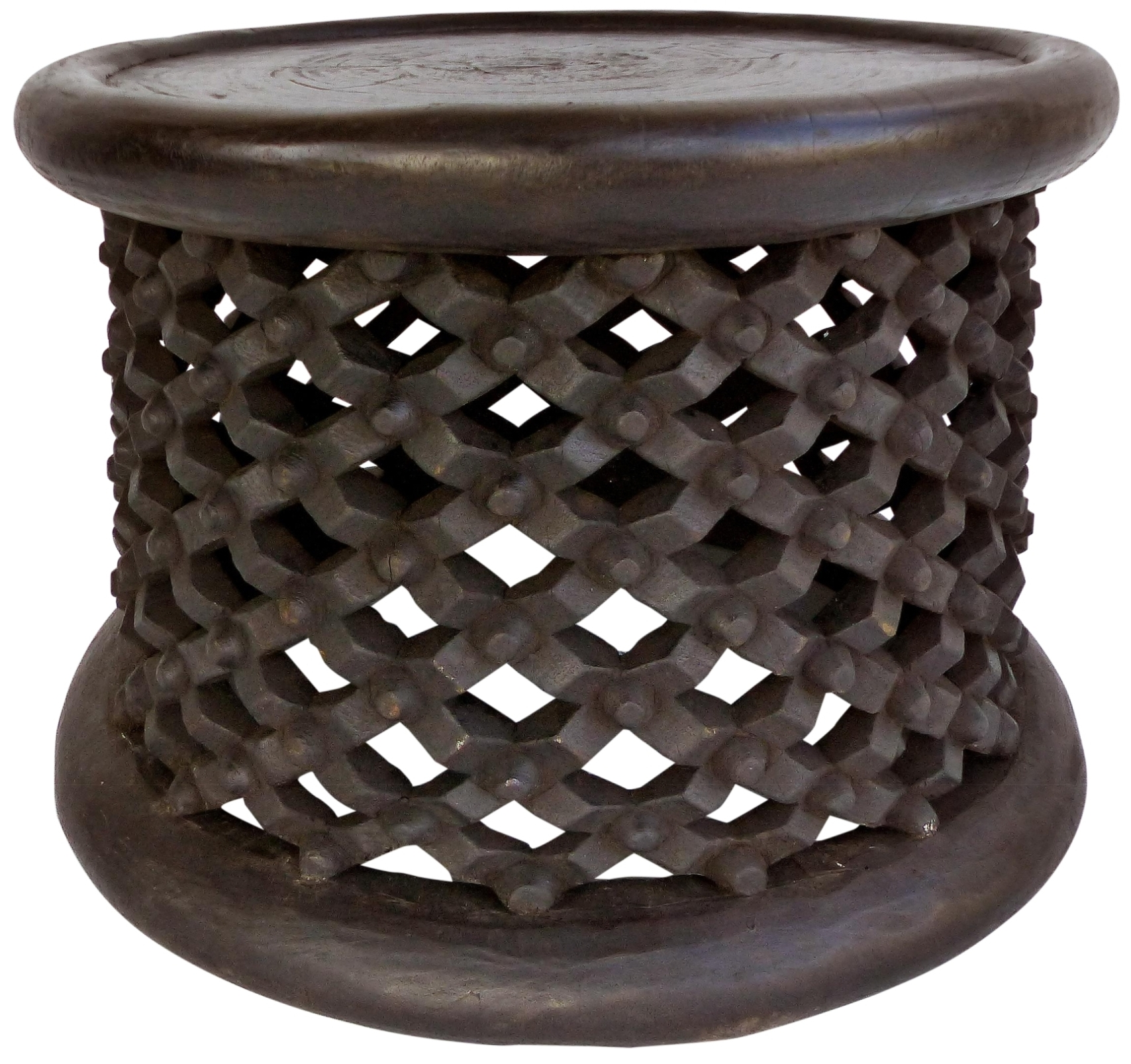 Bamileke Tribe Of Cameroon Carved Spider Side Table Or