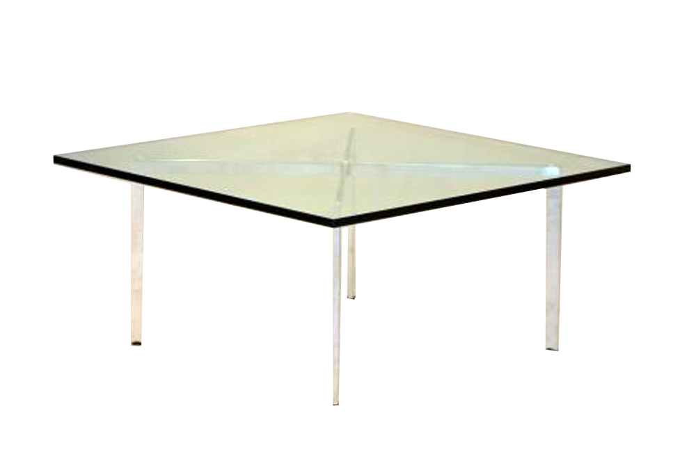 Vintage barcelona coffee table mies van der rohe for knoll modernism - Knoll barcelona table ...
