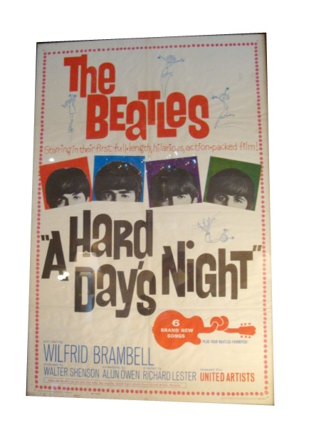Beatles A Hard Days Night Original Movie Poster Modernism