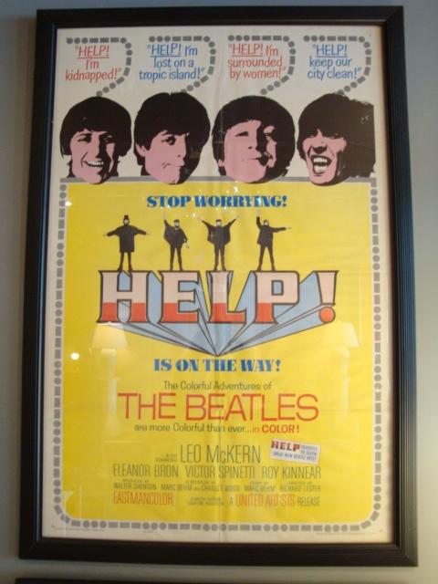 Beatles Help Original Movie Poster Modernism