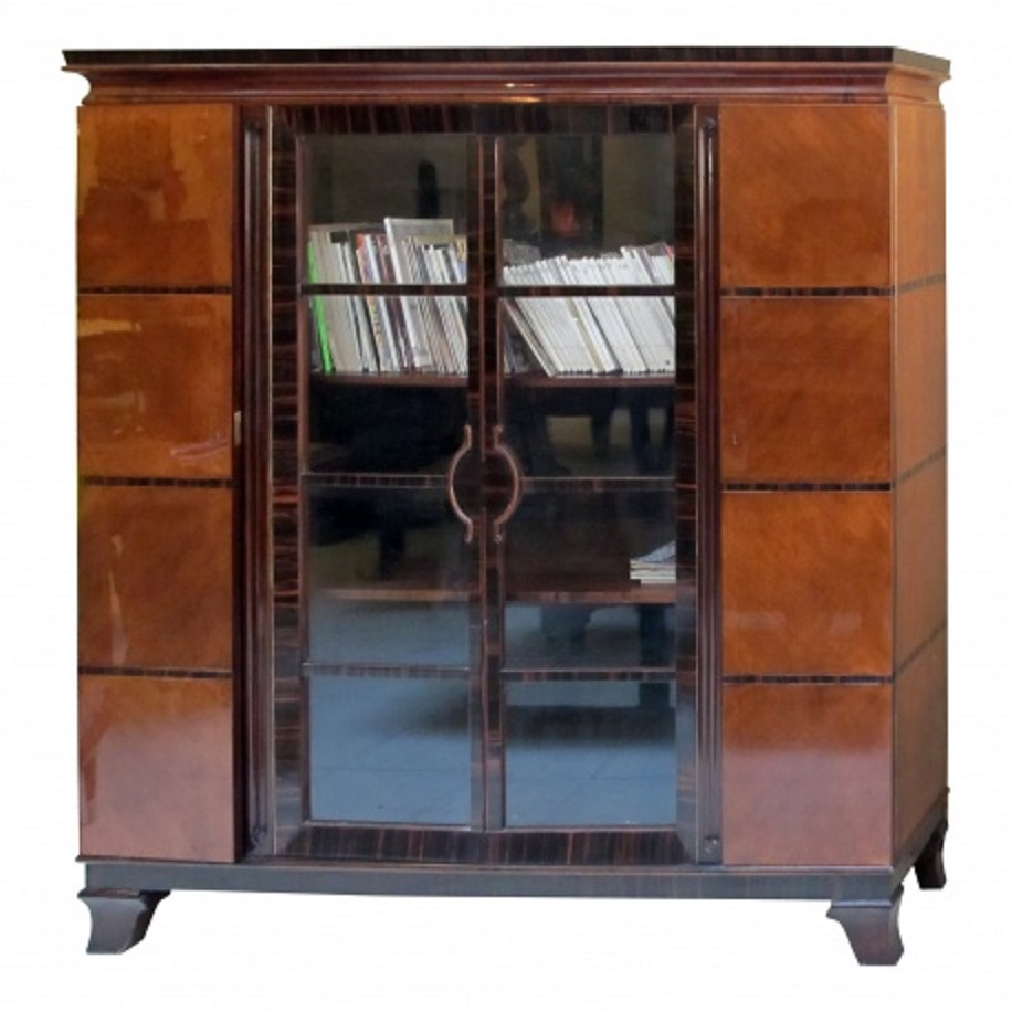 frech art deco bibliotheque or bookcase modernism. Black Bedroom Furniture Sets. Home Design Ideas